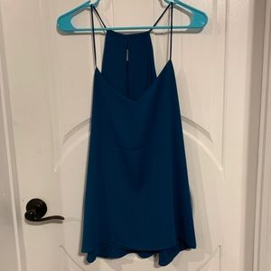 NWT Express Barcelona Reversible Cami Dark Teal